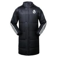 巴萨运动大衣男女中长款羽绒棉衣外套曼联球队服训练棉大衣儿童