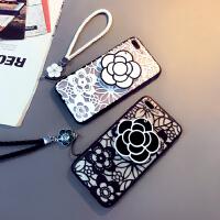苹果6s手机壳软7plus硅胶套iphone8简约女款5.5挂绳