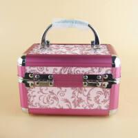 小铝合金化妆包饰品小号带锁首饰纪念彩妆旅游收纳盒手提化妆盒美甲工具箱铝合金