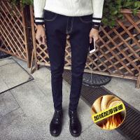 点就 潮男牛仔裤男牛仔裤秋冬装青年修身保暖小脚裤可搭配皮鞋的裤子A31