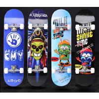 四轮滑板儿童新手滑板车男女枫木滑板代步刷街4轮双翘板