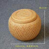 竹编手工茶叶罐普洱茶特产零食包装盒存茶篓散沱茶醒茶罐收纳礼盒