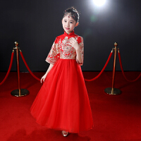 儿童礼服喜庆中国风旗袍裙冬季唐装女