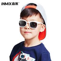 音米儿童墨镜男女防紫外线宝宝眼镜时尚偏光儿童太阳镜新款潮 AAYATF311