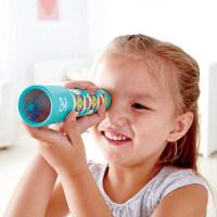 Hape复古万花筒蓝色3-6岁儿童复古神奇纸质多棱镜万花筒科学探索早教益智玩具E8400