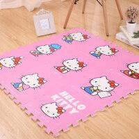 拼图儿童节礼物宝宝儿童防护卡通拼图地垫 儿童爬行垫 凯蒂猫泡沫拼接地垫hellokitty30厘米 30*30*1厘米