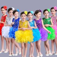儿童演出服女孩蓬蓬裙连衣纱裙公主裙表演服装夏季