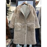 J6羊羔毛外套女新韩版麂皮绒皮毛一体中长款加厚大衣1.15