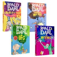 女巫 好心眼儿巨人 查理和巧克力工厂 英文原版儿童绘本读物章节书 roald dahl 罗尔德达尔作品3册套装 The