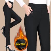 打底裤女外穿长裤妈妈裤子中年妇女裤高腰秋冬季中老年加厚加绒裤