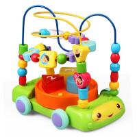 早教声光绕珠车绕珠串珠大号多功能灯光音乐男孩女孩幼儿宝宝1-3-6岁启蒙儿童玩具礼物 绿色