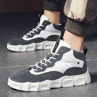 高帮板鞋鞋子男鞋百搭高帮鞋学生秋季鞋