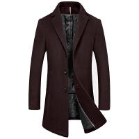 毛呢大衣男中长款秋冬韩版商务休闲青年风衣羊毛呢子加厚外套