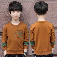 儿童秋衣4到5男童外穿长袖t恤衣服12岁大童8十男孩秋季上衣