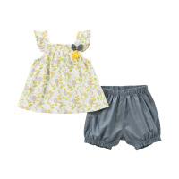 [2件3折价:78.9]戴维贝拉夏装新款女童套装宝宝印花两件套DBM10365
