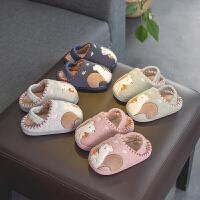 宝宝拖鞋冬女1-3岁防滑2婴幼儿保暖男童室内婴儿女童毛儿童棉拖鞋