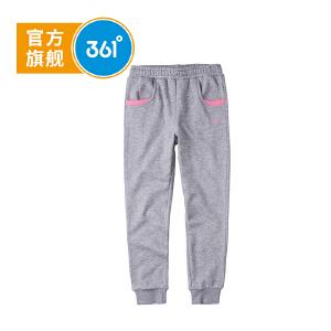 361° 361度童装 冬季女童裤子针织加厚长裤儿童N61742552