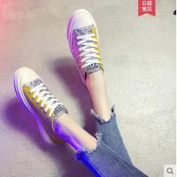 帆布鞋女学生韩版女生流行百搭帆布鞋韩版ulzzang小白鞋