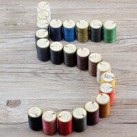 手缝皮革线圆蜡线涤纶线 皮具diy手工工具耗材 23色 0.55mm 纯黑-106