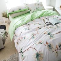 家纺美式小清新纯棉床单四件套田园风全棉儿童床上用品1.8米/2.0m床