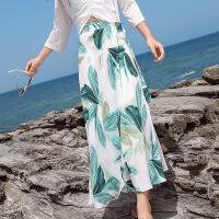2018秋季新款新款一片式雪纺长裙海边度假防�鹕程踩�ins超火的半身裙仙女 图片色