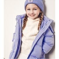 儿童羽绒服女童中长款连帽羽绒外套