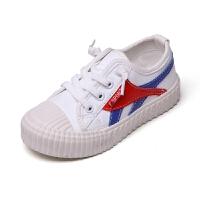 女童帆布鞋�和�布鞋春秋板鞋男童小白鞋