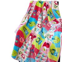 珊瑚绒毛毯加厚双层儿童毛毯宝宝幼儿园毯婴儿毯办公室小毯子父亲节 98cmX128cm