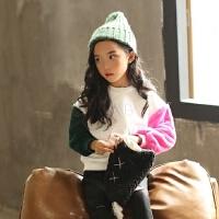 韩国童装冬季新款韩版女童时尚保暖卫衣中大童冬装摇粒绒外套