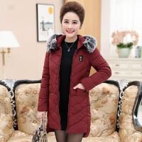 妈妈装棉衣外套40-50岁中老年女装冬装2017新款中年妇女加厚