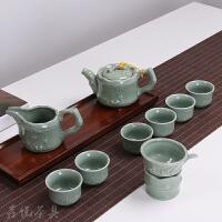 茶具套装 1壶6杯 七彩功夫汝窑特价 整套陶瓷家用礼品