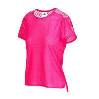adidas阿迪达斯女装短袖T恤跑步运动服AP9470