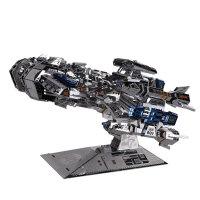 3D金属拼图模型 星际争霸人族大和战舰模型高难度diy手工拼装 彩色版+送工具+防尘罩