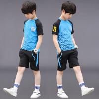 男童装夏装运动夏季大童男孩儿童足球服两件套