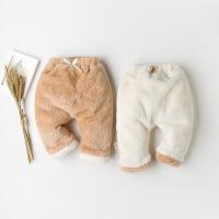 彩棉城堡 童装男女儿童棉裤冬保暖加厚加绒韩版哈伦羊羔绒裤子pp裤
