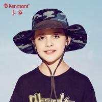 亲子帽子 儿童春夏遮阳帽大帽檐渔夫帽 防晒防紫外线帽迷彩男童帽4885