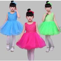 儿童演出服女童公主裙蓬蓬纱裙舞蹈服学生合唱服幼儿舞蹈裙表演服