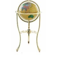 博目 仿宝石地球仪工艺品 32cm 高清中英文政区 立式金色架