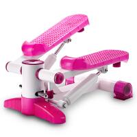 踏步机 家用多功能液压脚踏机瘦腿 健身器材静音踏步机 粉红色