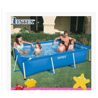 INTEX长方形管架戏水池超大支架儿童家庭游泳池 加厚简易