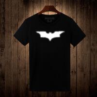 20180317140744186蝙蝠侠夜光T恤 纯棉短袖T恤 男 个性反光T恤 美剧电影衣服