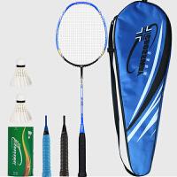 羽毛球拍 全碳素纤维男女羽拍训练比赛单双拍 带拍包(已穿线) C2 蓝色 1支装 3U4 送赠品礼包