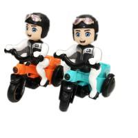 现货抖音同款儿童卡通特技骑三轮车电动音乐旋转万向翻斗车玩具