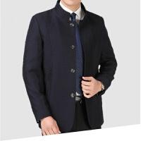 中山装男春秋立领西服上衣中年爸爸装西服商务西装外套中华立领