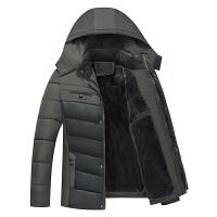 2017冬季新款加绒加厚中老年保暖棉衣休闲棉服男士韩版修身棉衣潮