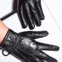 时尚羊皮触摸屏手套 加厚真皮手套大气男女士保暖真皮手套 可礼品卡支付