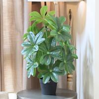 wo+仿真绿植盆栽假花发财树金钱树大盆套装 客厅落地室内装饰摆件
