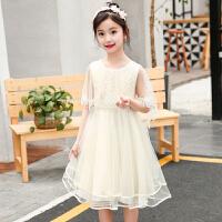 女童新款连衣裙韩版儿童公主裙洋气网纱裙