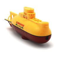 遥控潜水艇防水充电迷你遥控潜艇玩具可潜水男孩水上水下玩具浴缸 官方标配
