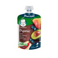 【网易考拉】Gerber嘉宝 婴幼儿有机梨蓝莓苹果牛油果泥2段6个月以上99g